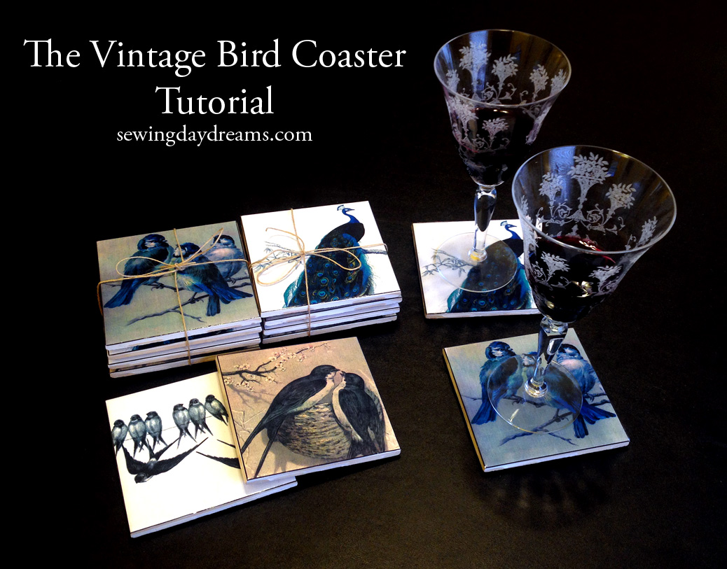 sewing-daydreams-vintage-bird-coaster-tutorial