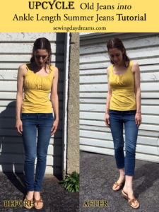 ankle length jeans tutorial