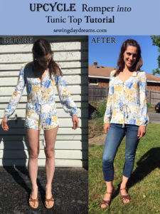 upcycle romper tutorial