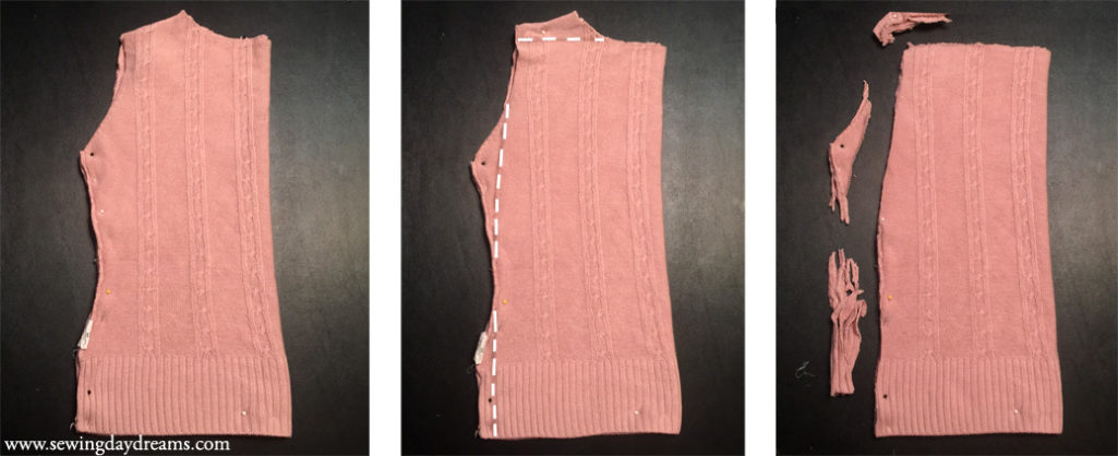 Sewing Daydreams - Upcycle Sweater into Pencil Skirt Tutorial