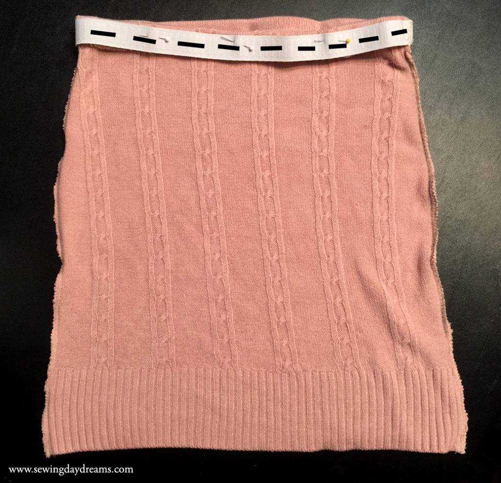 Sewing Daydreams - Upcycle Sweater into Skirt Tutorial