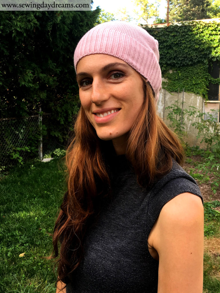 Sewing Daydreams - Upcycle Sweater into Beanie Hat Tutorial