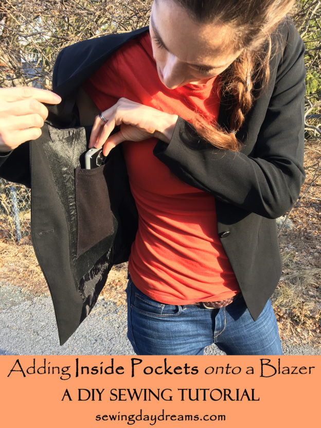 Adding Inside Pockets onto a Blazer Sewing Tutorial