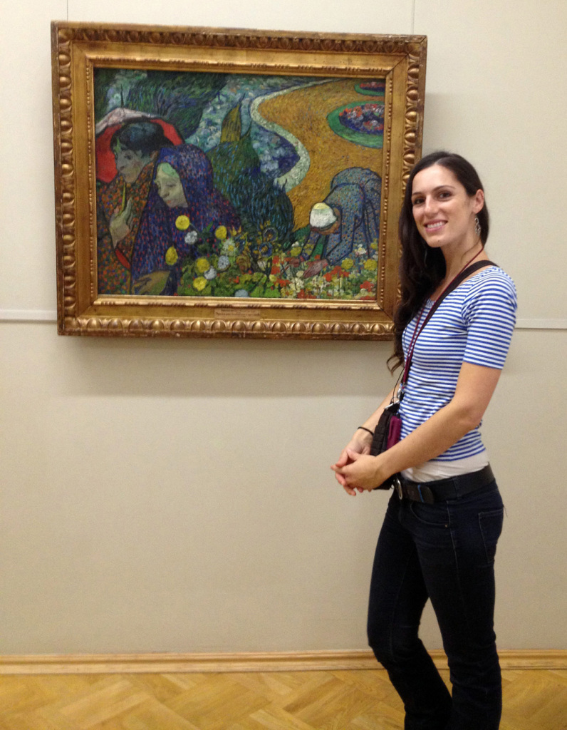 "Visiting Van Gogh's ""Memory of the Garden at Etten"" at the State Hermitage Museum."