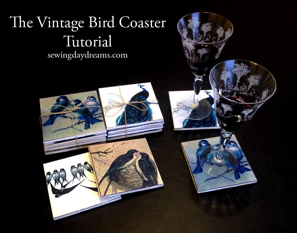 sewing-daydreams-vintage-bird-coaster-tutorial