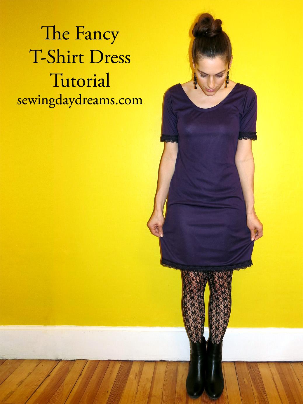 DIY - The Fancy T-Shirt Dress Tutorial | Sewing Daydreams