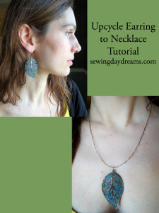 upcycle earring necklace tutorial