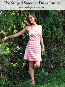 Striped Summer Dress Tutorial