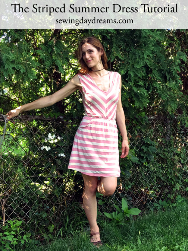 Striped Summer Dress Tutorial