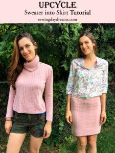 Sweater Skirt Tutorial