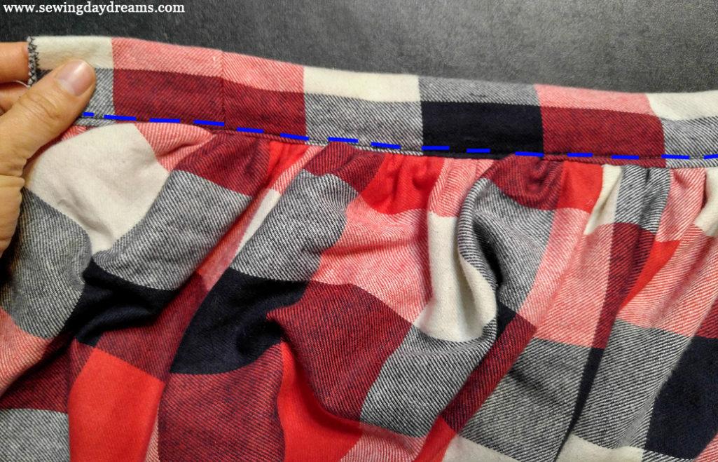 Classy Plaid Gathered Skirt Tutorial
