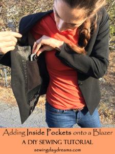 Adding Inside Pockets onto a Blazer Sewing Tutorial