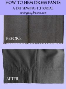 How to Hem Dress Pants