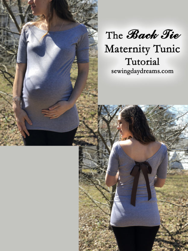 DIY – The Back Tie Maternity Tunic Tutorial | Sewing Daydreams